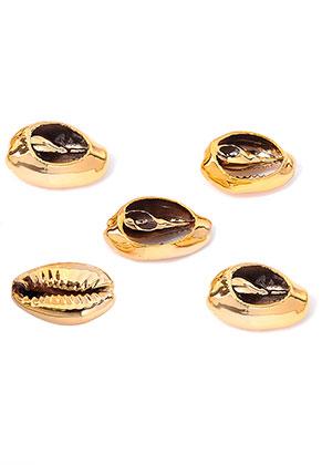 www.sayila.com - Shell beads with plating 17-20x13-14mm
