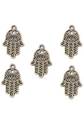 www.sayila-perlen.de - Metall Anhänger Hand der Fatima 24x15mm