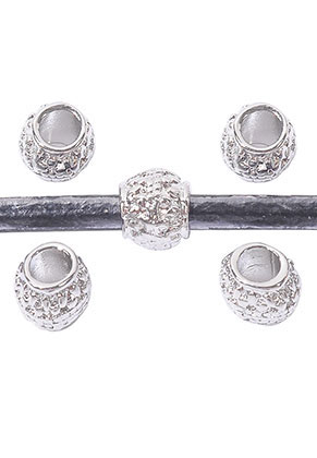 www.sayila.com - Large-hole-style metal beads 9x9mm