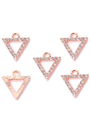 www.sayila.com - Metal pendants/charms triangle wist strass 15x13,5mm