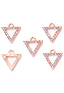 www.sayila.co.uk - Metal pendants/charms triangle wist strass 15x13,5mm - D32259