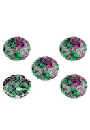 www.sayila.co.uk - Natural stone flat back/cabochon Ruby Zoisite round 18mm - D32298