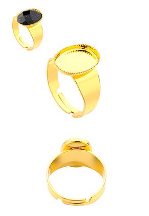 www.sayila-perlen.de - Metall Ringe >= Ø 19mm mit Fassung für 14x10mm Klebstein