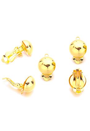 www.sayila.nl - Brass clipoorbellen met oogje 19x12mm