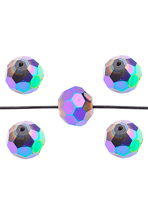 www.sayila.nl - Glaskralen kristal rondel facet geslepen 12x11mm