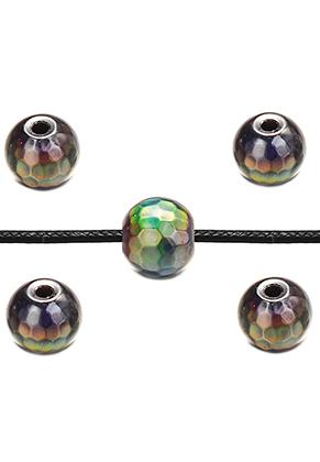 www.sayila.com - Natural stone Mood bead Hematite faceted 6,5x6mm