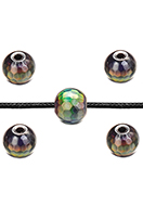 www.sayila.com - Natural stone Mood bead Hematite faceted 6,5x6mm - D32649