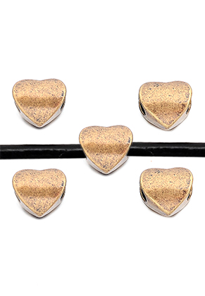 www.sayila.com - Big-hole-style metal beads heart 11x10mm