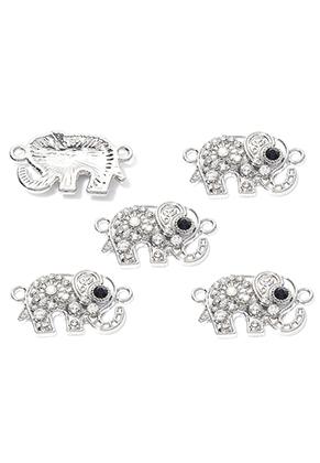 www.sayila.co.uk - Metal pendant/connector elephant 23x13mm