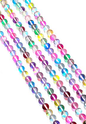 www.sayila.co.uk - Glass beads round half transparent 8mm