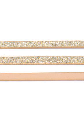 www.sayila.co.uk - Imitation leather strap with glitter 5mm, 2mm thick
