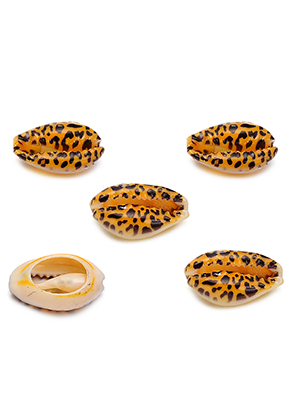 www.sayila.com - Shell beads with panther print ± 15-22x11-14mm