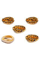 www.sayila.co.uk - Shell beads with panther print ± 15-22x11-14mm - D32800