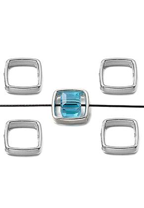 www.sayila-perlen.de - Metal Look Perlen Ring 13mm für Perle 7,5mm
