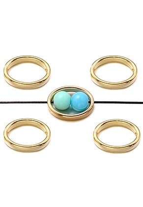 www.sayila-perlen.de - Metal Look Perlen Ring 15x12mm für Perlen 5mm
