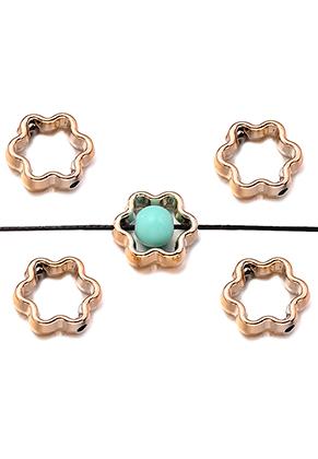 www.sayila-perlen.de - Metal Look Perlen Ring 12mm für Perle 5mm