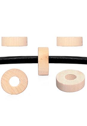 www.sayila.nl - Houten kralen Schima rondel ± 28x10mm