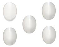 Oeil de chat v/éritable Total 30 Carat Lot de 5 pi/èces Forme ovale Perles de gu/érison de pierres pr/écieuses en vrac Chakra