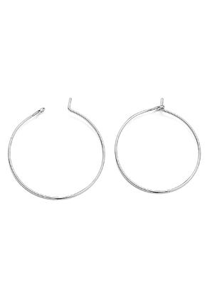 www.sayila.com - Brass hoop earrings 30x25mm