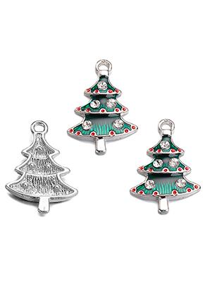 www.sayila.fr - Pendentif en métal avec epoxy arbre de Noël 26x17mm