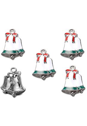 www.sayila.fr - Pendentifs en métal avec epoxy cloches de Noël 23x17mm