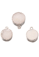www.sayila.com - Natural stone pendant Crystal round 19x15mm - D33156