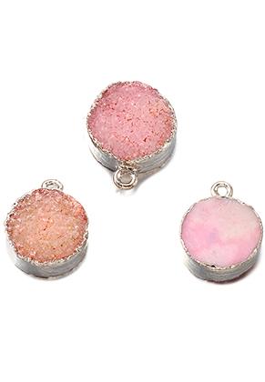 www.sayila.com - Natural stone pendant Crystal round 19x15mm