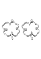www.sayila.co.uk - Metal open pendants for resin four-leaf clover 45x34mm - D33247