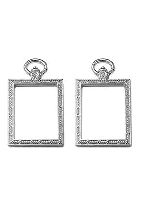 www.sayila.nl - Metalen open hangers voor giethars rechthoek 52x31mm