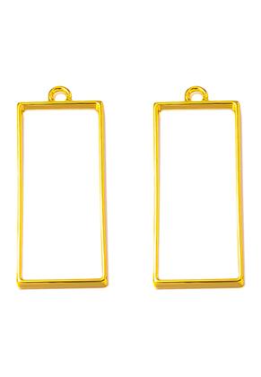 www.sayila.nl - Metalen open hangers voor giethars rechthoek 50x20mm