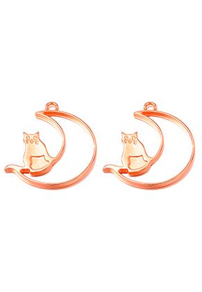 www.sayila.nl - Metalen open hangers voor giethars kat en maan 37x34mm