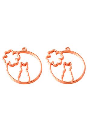 www.sayila.nl - Metalen open hanger voor giethars kat 45x44mm