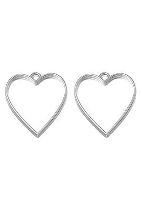 www.sayila-perlen.de - Metall offen Anhänger für Gießharz Herzchen 34x30mm