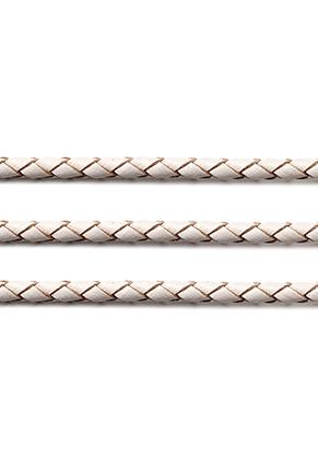 www.sayila.nl - Leren koord gevlochten 100cm, 5mm dik