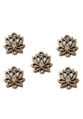 www.sayila.nl - Metalen hangers/tussenzetsels lotus 16x14mm
