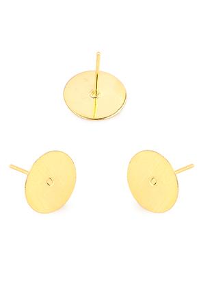 www.sayila.nl - Roestvrijstalen oorstekers 12x10mm voor plaksteen > 10mm