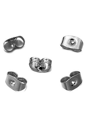 www.sayila.com - Stainless steel earnuts 6x5mm (± 70 pcs.)