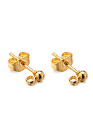www.sayila.com - Stainless steel ear studs with eye 14x6x3mm - D33372