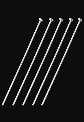 www.sayila.es - Bastones cabeza de alfiler de metal 80mm (1mm de espesor) (± 15 pzs.)