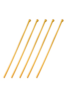 www.sayila.com - Brass head pins with ball 80mm (1mm thick) (± 8 pcs.) - D33391