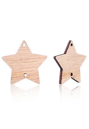 www.sayila.nl - Houten hangers/tussenzetsels ster 29mm voor DIY kalender