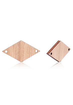www.sayila.fr - Pendentifs/entre-deux en bois losange 29,5x16,5mm pour calendrier DIY