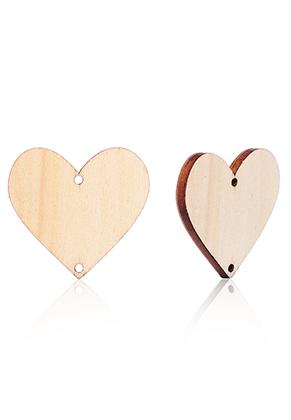 www.sayila.es - Colagntes/conectores de madera corazón 30x28mm por calendario DIY