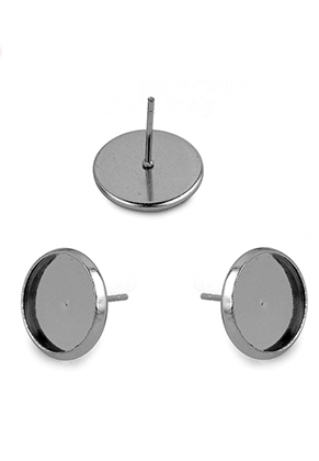 www.sayila.nl - Roestvrijstalen oorstekers kastje 14x13mm voor 12mm plaksteen