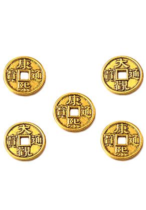 www.sayila-perlen.de - Metall Anhänger Chinesische Glücksmünze 15mm