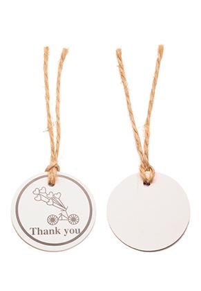 www.sayila.com - Cardboard tags/labels/pendants round with string 95x35mm