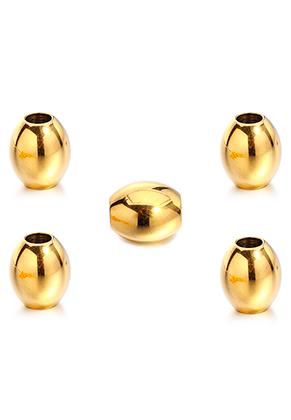 www.sayila-perlen.de - Großloch-Stil Edelstahl Perle oval 15x13mm (Loch ± 5,5mm)