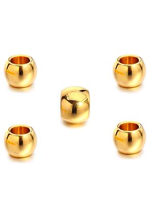 www.sayila-perlen.de - Großloch-Stil Edelstahl Perle Rondelle 12x9mm (Loch ± 6,5mm