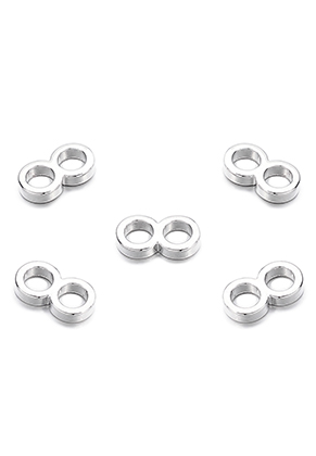 www.sayila.com - Large-hole-style metal dividers 2 holes 13x7x2mm