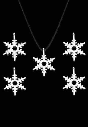 www.sayila.es - Colgantes de metal copo de nieve 23x17mm